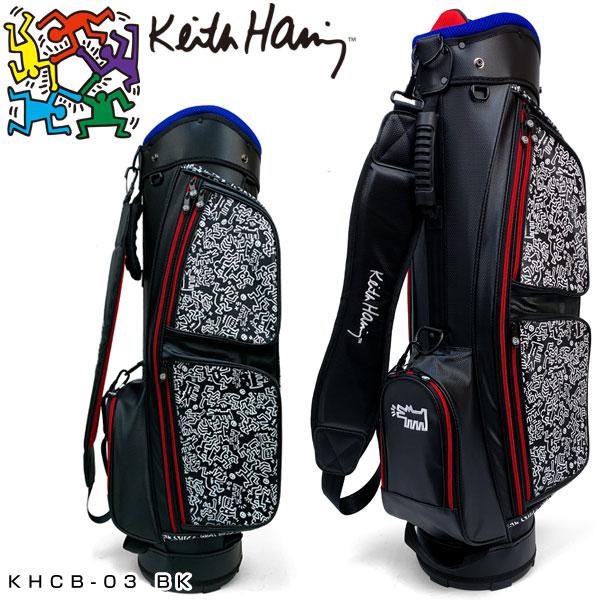 キース・ヘリング ゴルフ キャディバッグ Pattern ブラック KHCB-03