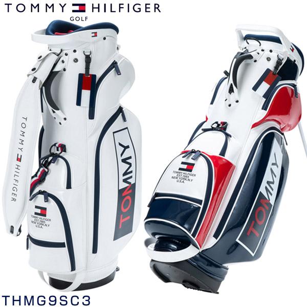 トミーヒルフィガー ゴルフ キャディバッグ エナメル スタンドバッグ THMG9SC3
