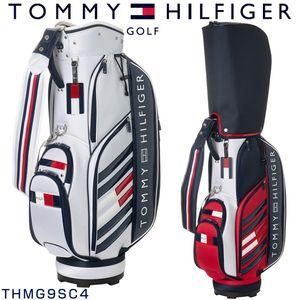 当店限定5%OFFクーポン付!トミーヒルフィガー ゴルフ ストライプ フラッグ キャディバッグ THMG9SC4