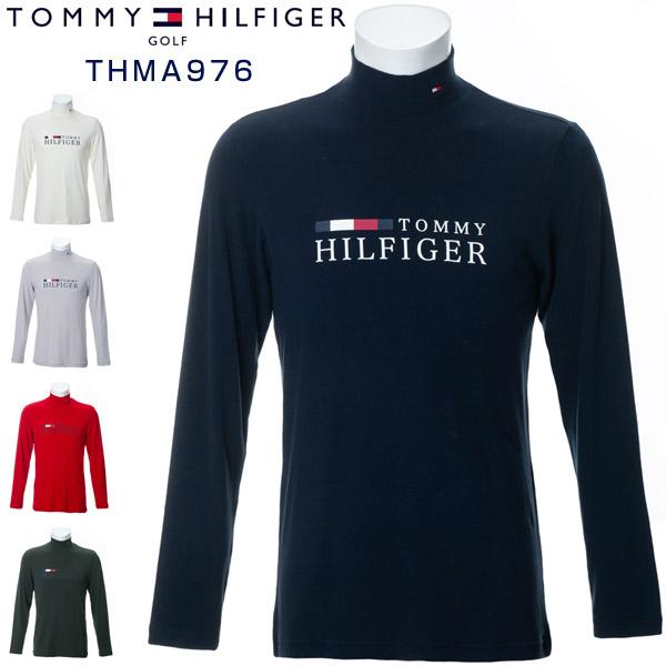 [エントリーでポイント12倍~]トミーヒルフィガー ゴルフウェア シャツ ロゴ ハイネック 長袖シャツ THMA976 2019年秋冬モデル M-XL 【あす楽対応】
