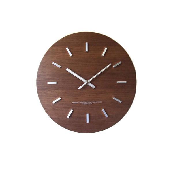 【取り寄せ・同梱注文不可】 ウォールナットの時計 ステップ ブラウン V-0010【代引き不可】【thxgd_18】