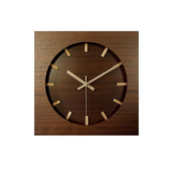 【取り寄せ・同梱注文不可】 ウォールナットクロック 電波時計 ブラウン V-087【代引き不可】【thxgd_18】