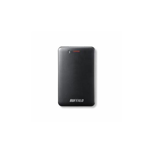 【送料無料表記がある場合でも、別途送料600円必要】BUFFALO バッファロー SSD-PM120U3A-B 耐振動・耐衝撃 省電力設計 USB3.1(Gen1)対応 小型ポータブルSSD 120GB ブラック SSD-PM120U3A-B(USB)