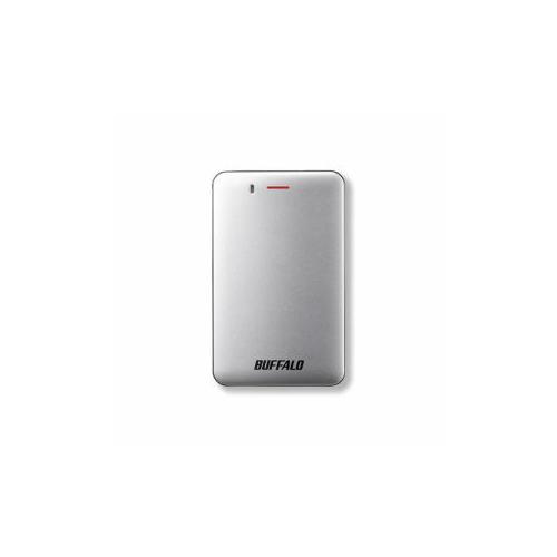 BUFFALO バッファロー SSD-PM480U3A-S 耐振動・耐衝撃 省電力設計 USB3.1(Gen1)対応 小型ポータブルSSD 480GB シルバー SSD-PM480U3A-S(USB)