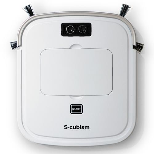 【別途送料600円必要です】エスキュービズム 床用薄型 ロボット掃除機 パールホワイト / シャンパンゴールド SCC-R05PW