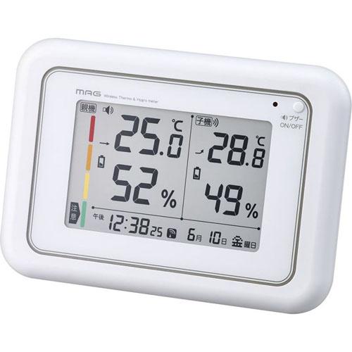 【送料無料表記がある場合でも、別途送料600円必要】マグ 電波時計付ワイヤレス温度湿度計 B2163598 C8059105