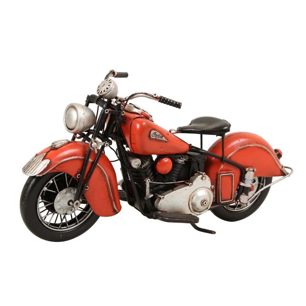 【取り寄せ・同梱注文不可】 ブリキのおもちゃ(motorcycle orange) 27542【代引き不可】【thxgd_18】