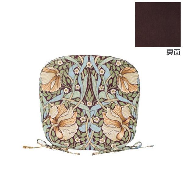 【取り寄せ・同梱注文不可】 川島織物セルコン Morris Design Studio ピンパーネル ダイニングシートクッション 45×43Vcm LN1723 BR ブラウン【代引き不可】【thxgd_18】