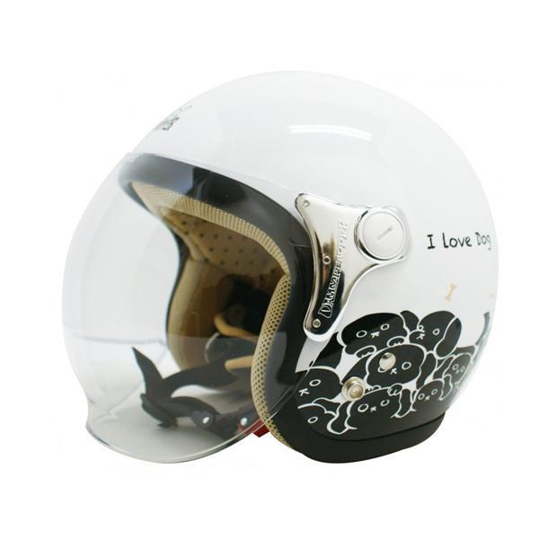 【取り寄せ・同梱注文不可】 ダムトラックス(DAMMTRAX) カリーナ ヘルメット WHITE/DOG【代引き不可】【thxgd_18】