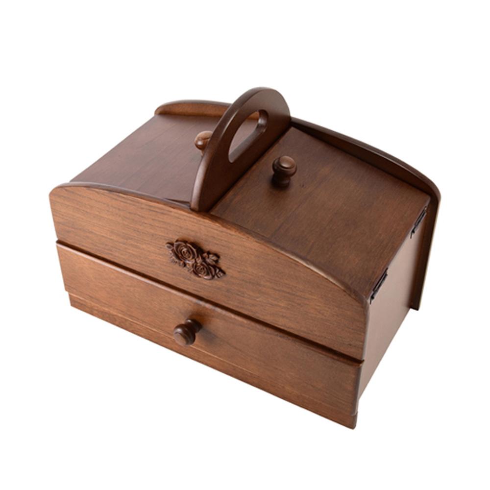 【取り寄せ・同梱注文不可】 茶谷産業 日本製 木製ソーイングボックス 020-300【代引き不可】【thxgd_18】