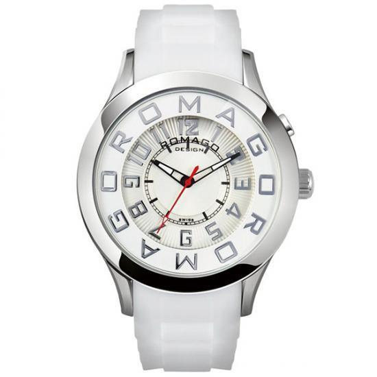 【取り寄せ・同梱注文不可】 ROMAGO DESIGN (ロマゴデザイン) Attraction series アトラクションシリーズ 腕時計 RM015-0162PL-SVWH【代引き不可】【thxgd_18】