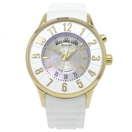 【取り寄せ・同梱注文不可】 ROMAGO DESIGN (ロマゴデザイン) Numeration series ヌメレーションシリーズ 腕時計 RM068-0053PL-GDWH【代引き不可】【thxgd_18】