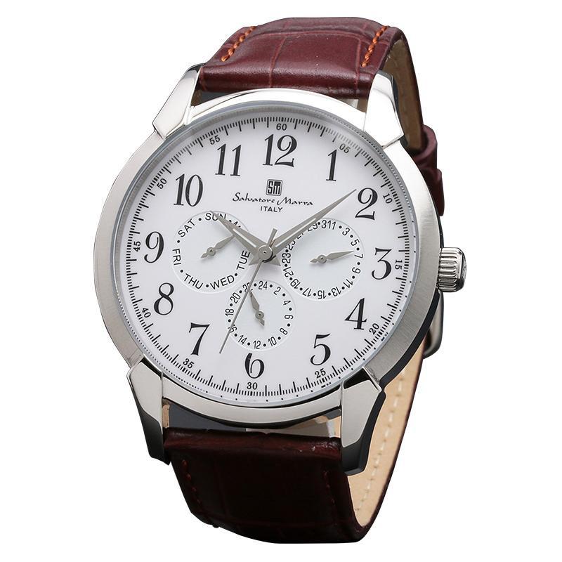 【取り寄せ・同梱注文不可】 Salvatore Marra(サルバトーレマーラ) SM18107-SSWH 腕時計【代引き不可】【thxgd_18】