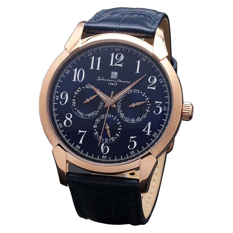 【取り寄せ・同梱注文不可】 Salvatore Marra(サルバトーレマーラ) SM18107-PGBL 腕時計【代引き不可】【thxgd_18】