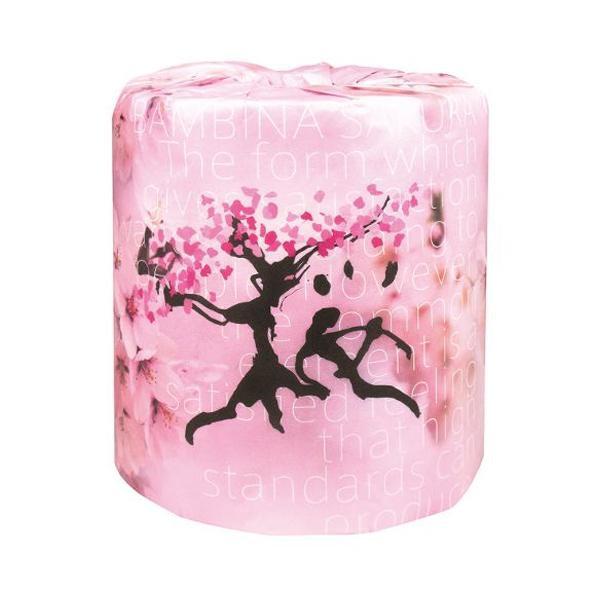【取り寄せ・同梱注文不可】 冬から春の販促品 桜 トイレットペーパー 100個入 桜柄 2329【代引き不可】【thxgd_18】