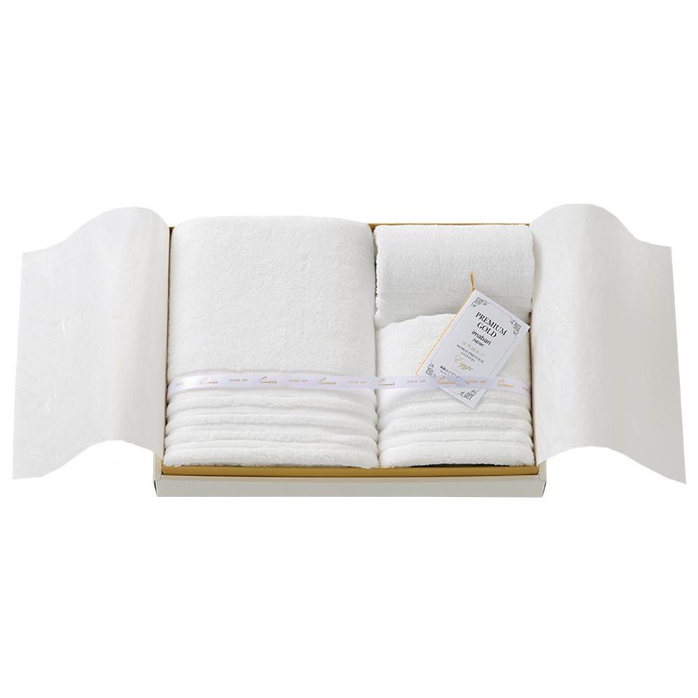 【代引き・同梱不可】【取り寄せ・同梱注文不可】 プレミアムゴールド 高級エジプト綿 タオルセット TQS8003504【thxgd_18】