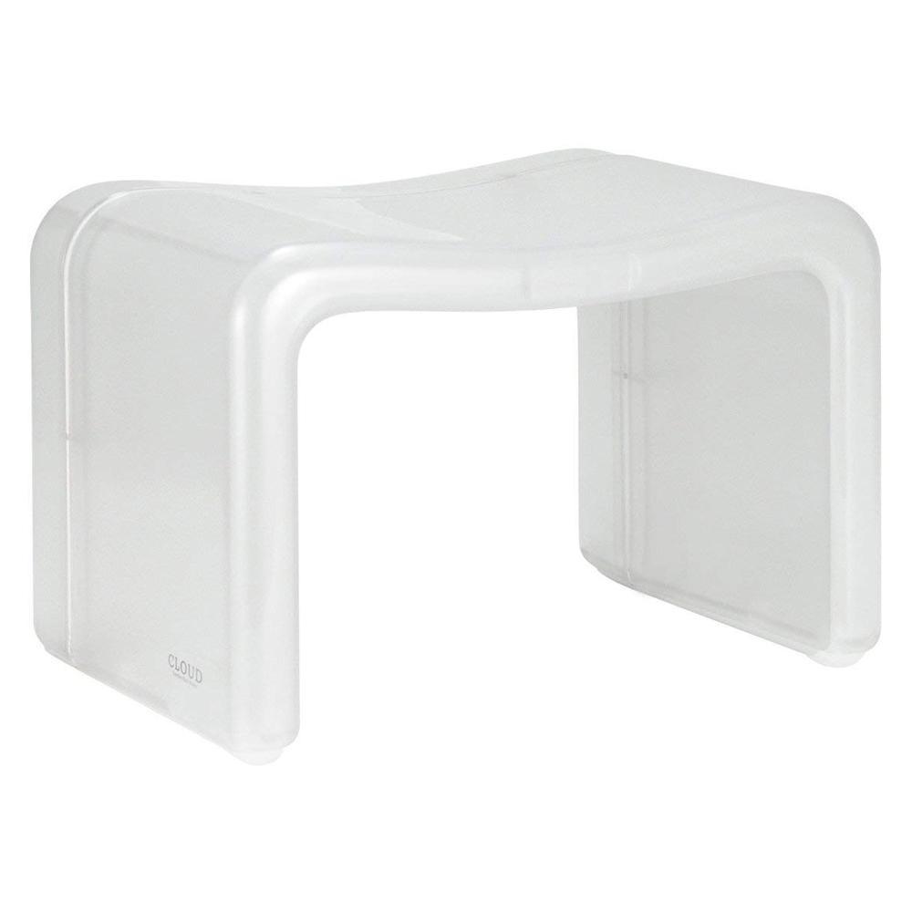 【取り寄せ・同梱注文不可】 シンカテック CLOUD(クラウド) 風呂椅子角 ホワイト Cld-MX-W【代引き不可】【thxgd_18】