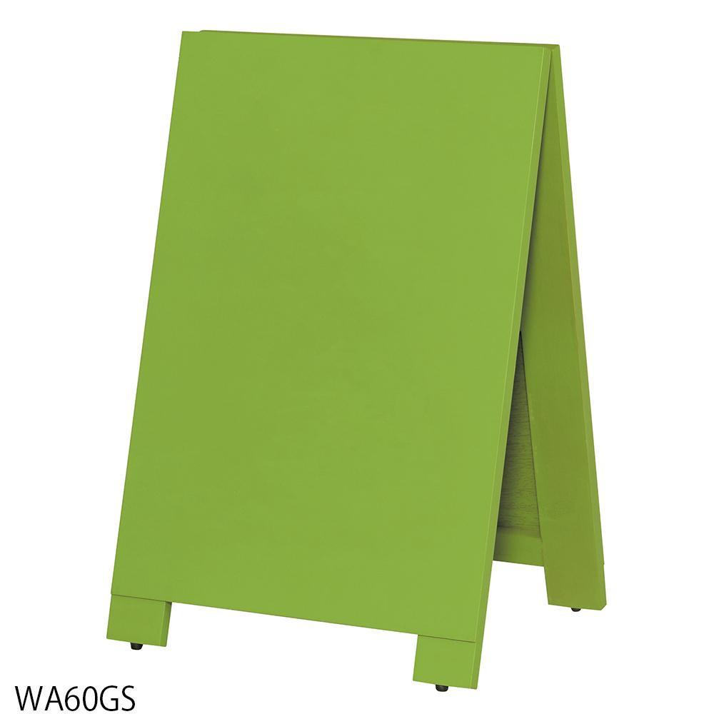 【代引き・同梱不可】【取り寄せ・同梱注文不可】 馬印 木製A型案内板mini 緑のこくばん WA60GS【thxgd_18】