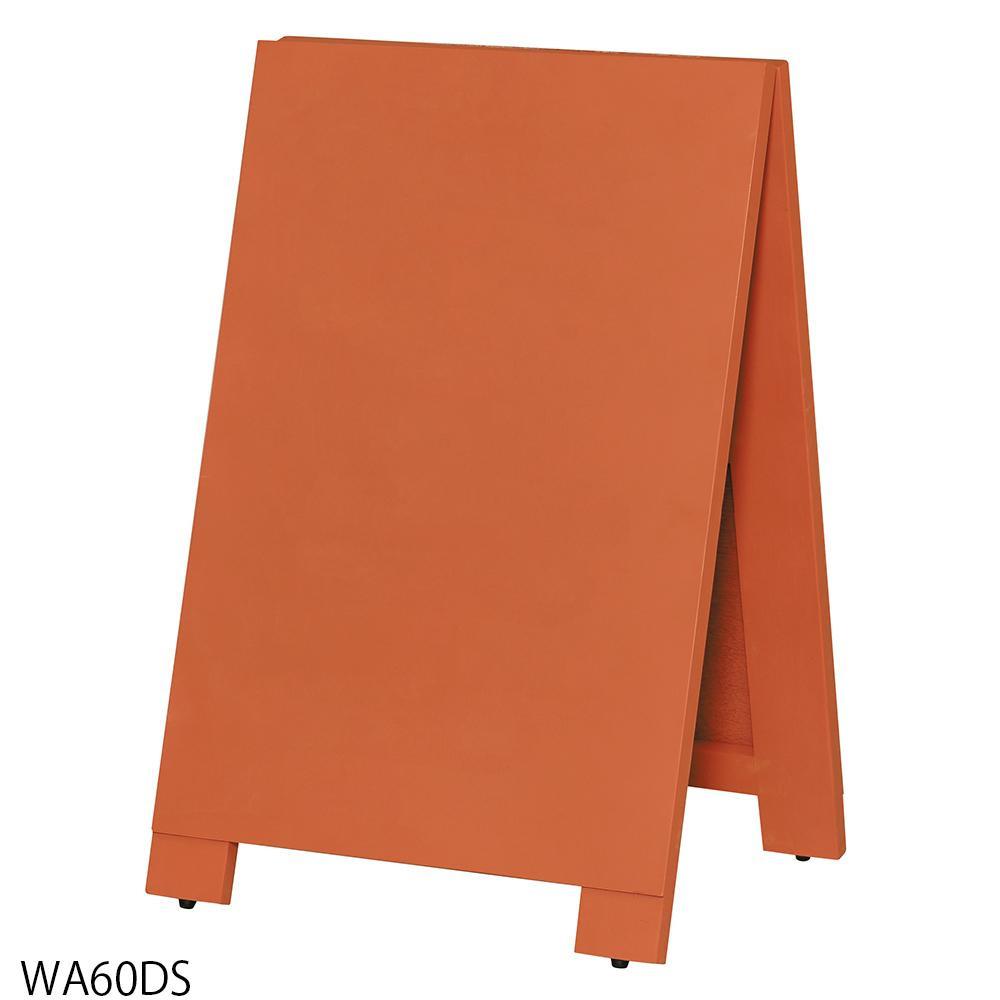 【代引き・同梱不可】【取り寄せ・同梱注文不可】 馬印 木製A型案内板mini オレンジこくばん WA60DS【thxgd_18】