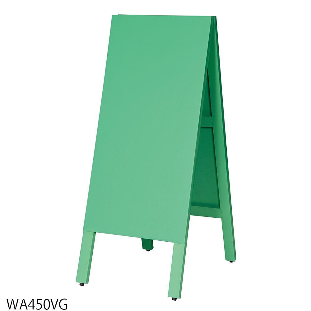 【代引き・同梱不可】【取り寄せ・同梱注文不可】 馬印 多目的A型案内板 緑のこくばん WA450VG【thxgd_18】