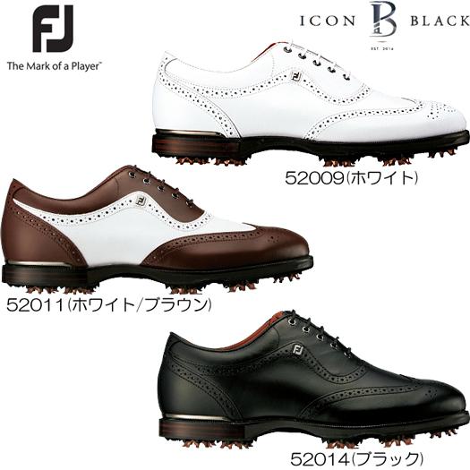 フットジョイ FJ ICON Black アイコン ブラック ゴルフシューズ (2017年モデル)