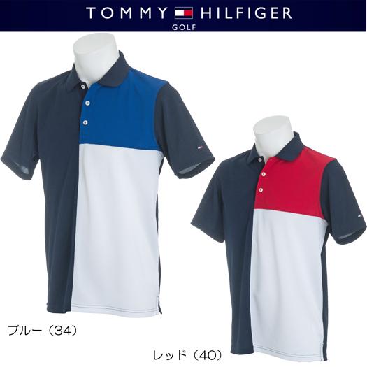 (セール)トミーヒルフィガー ゴルフ パネルブロッキング 半袖ポロシャツ【THMA814】2018春夏モデル