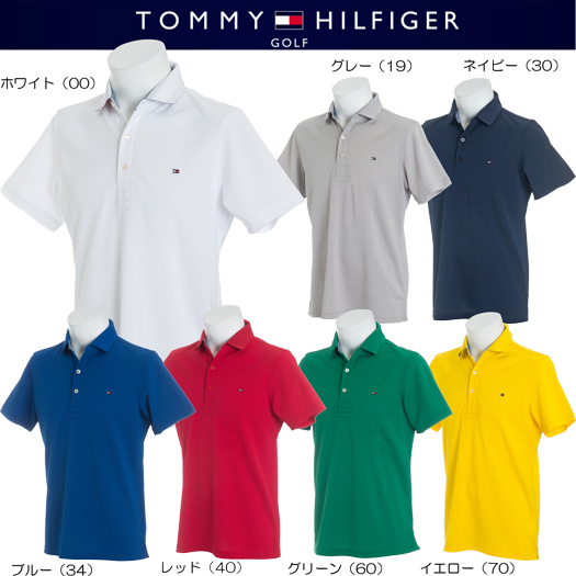 トミーヒルフィガー ゴルフ ベーシック フラッグ 半袖ポロシャツ SLIM FIT【THMA818】2018春夏モデル