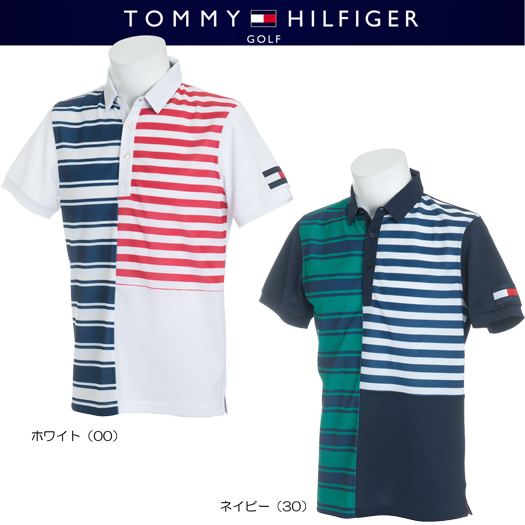 (セール)トミーヒルフィガー ゴルフ パネルボーダー 半袖ポロシャツ SLIM FIT【THMA842】2018春夏モデル