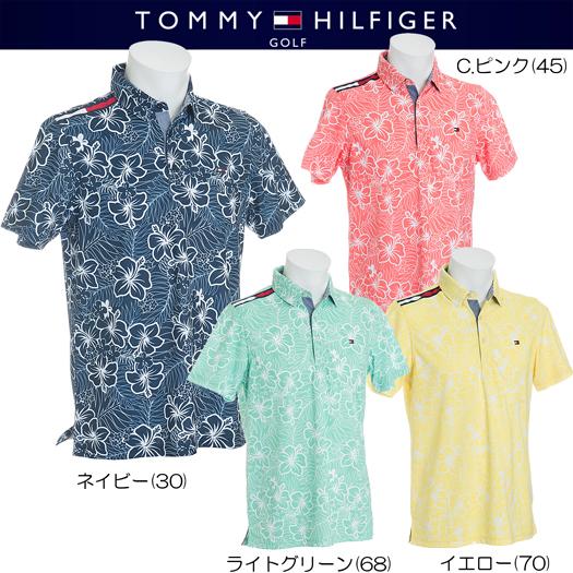 (セール)トミーヒルフィガー ゴルフ エングレービング ハイビスカス 半袖ポロシャツ SLIM FIT【THMA858】2018春夏モデル