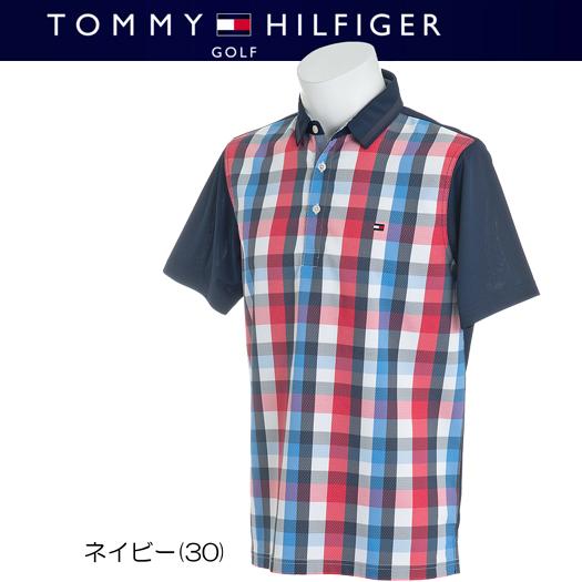 (セール)トミーヒルフィガー ゴルフ チェック 半袖ポロシャツ【THMA863】2018春夏モデル