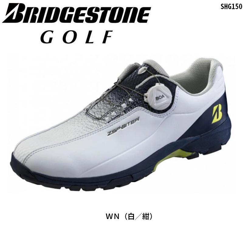 Bridgestone Golf いつでも送料無料 軽量 3E ボア ブリヂストンゴルフ ゼロ スパイク バイター Seasonal Wrap入荷 WN 紺 ライト 白 BOA ゴルフシューズ SHG150 スパイクレス