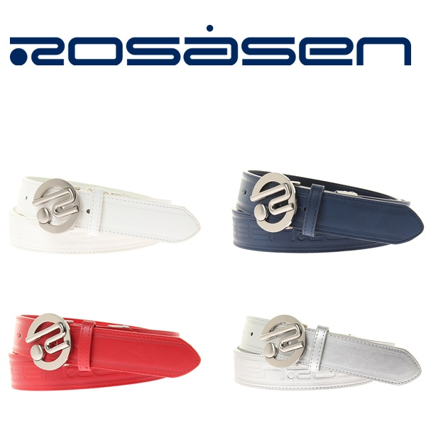 セール特価品 2018年モデル 新作入荷!! ロサーセン ベルトROSASEN 型押しロゴ Rバックル 西海岸046-68831