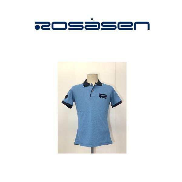 Mサイズ クリアランスセール!ロサーセン ROSASEN ポロシャツ半袖 ブルー系 送料無料044-27242