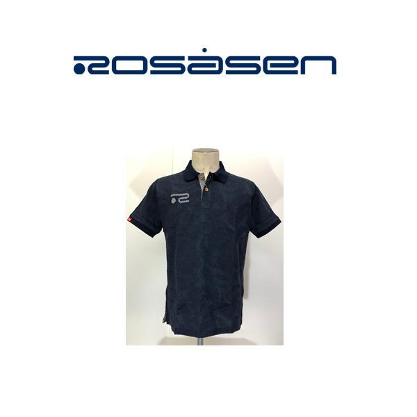 Lサイズ クリアランスセール!ロサーセン ROSASEN ポロシャツ半袖 紺 送料無料044-27444