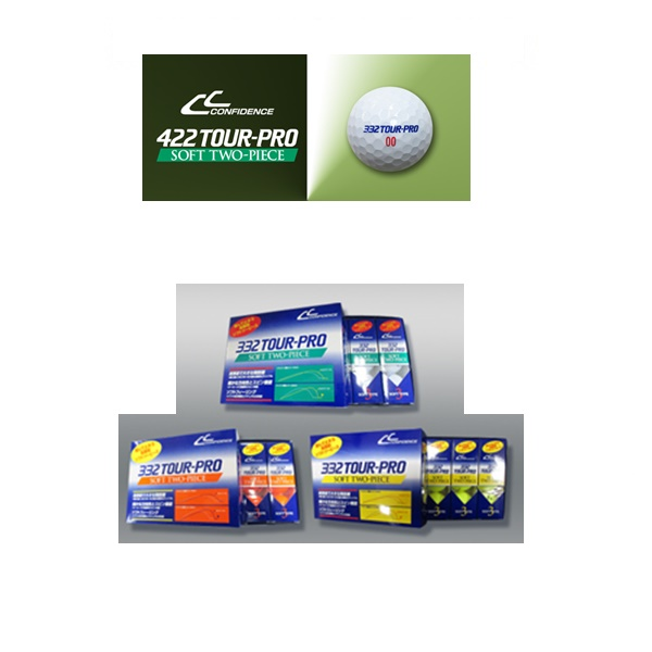 CONFIDENCE 332 TOUR-PROSOFT 激安セール ツアープロソフトツーピース ゴルフボール ◇限定Special Price TWO-PIECEコンフィデンス