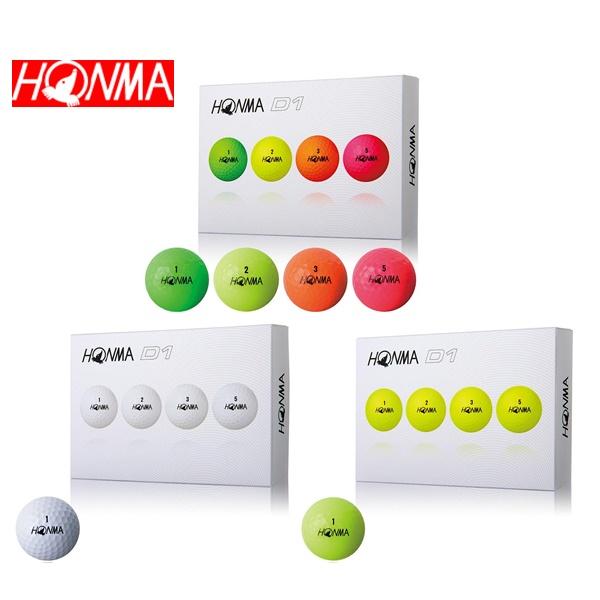 2018年モデル HONMA 国内在庫 D1 NEWホンマ ボール1ダース イエロー 2018マルチカラー 12個入り NEW売り切れる前に☆ ホワイト