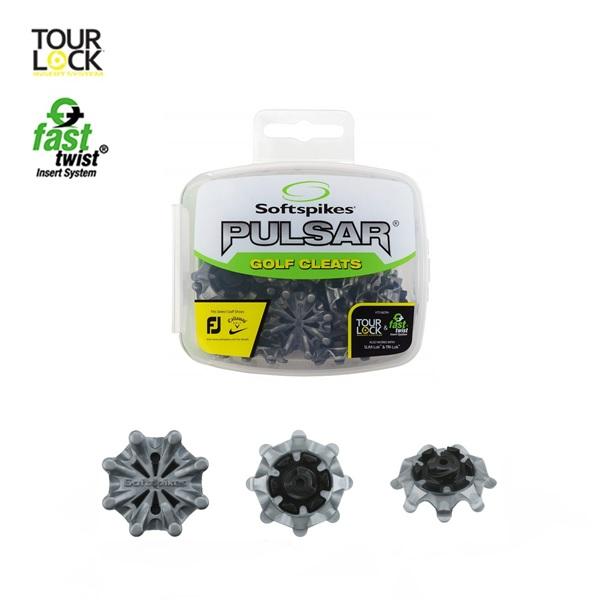 ゴルフスパイク 鋲パルサー PULSAR ツアーロックソフトスパイク SoftspikesS-549 シルバー 18個入り 迅速な対応で商品をお届け致します 新品 ブラック