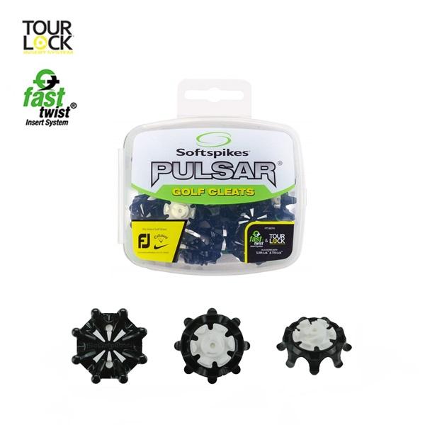 ゴルフスパイク 鋲パルサー PULSAR 税込 ツアーロックソフトスパイク 格安 価格でご提供いたします ホワイト 18個入り SoftspikesS-550 ブラック