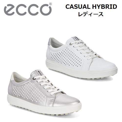 【レディース】エコー カジュアル ハイブリッドECCO CASUAL HYBRIDスパイクレス ゴルフ シューズHYDROMAX 軽量