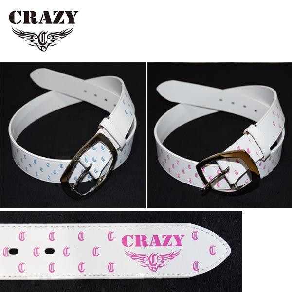 クレイジー レザー ベルト [Cr柄 全2色] (Crazy Leather Belt CRAZY Design)