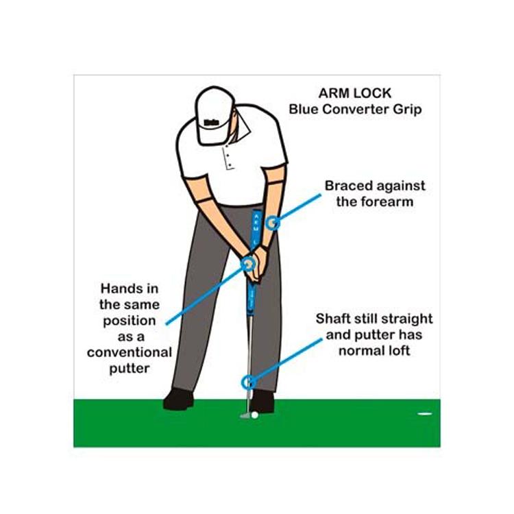 手臂锁高尔夫 ☆ 希图高尔夫蓝色转换器推杆,抓地力 ARM001