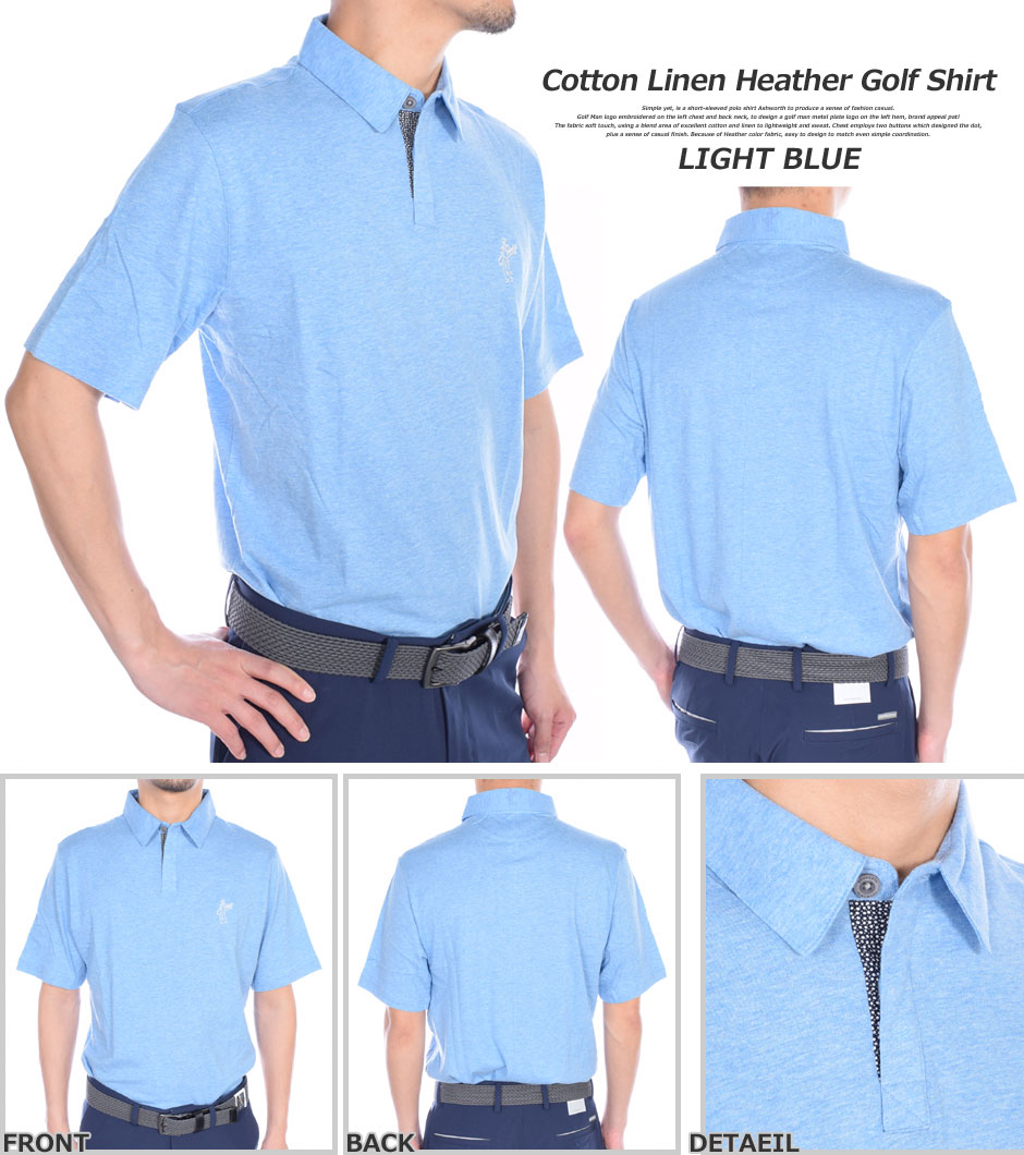 f13fcaabe2 (2016 handpicked sale) Ashworth polo shirt-cotton linen Heather Golf short  sleeve polo shirts large size USA imports