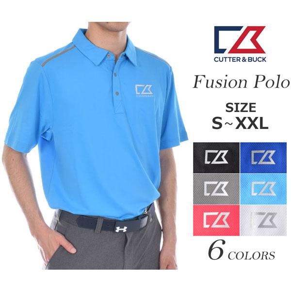 (スーパーセール)ゴルフウェア メンズ シャツ トップス ポロシャツ 春夏 おしゃれ カッター&バック Cutter&Buck ゴルフウェア メンズポロシャツ フュージョン 半袖ポロシャツ 大きいサイズ USA直輸入 あす楽対応