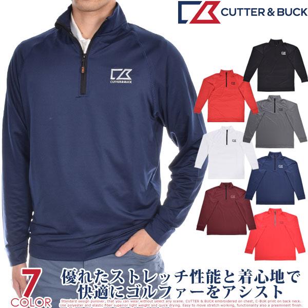 (冬★大感謝セール)カッター&バック Cutter&Buck ゴルフウェア メンズ おしゃれ 秋冬ウェア ジャクソン ハーフジップ 長袖プルオーバー 大きいサイズ USA直輸入 あす楽対応
