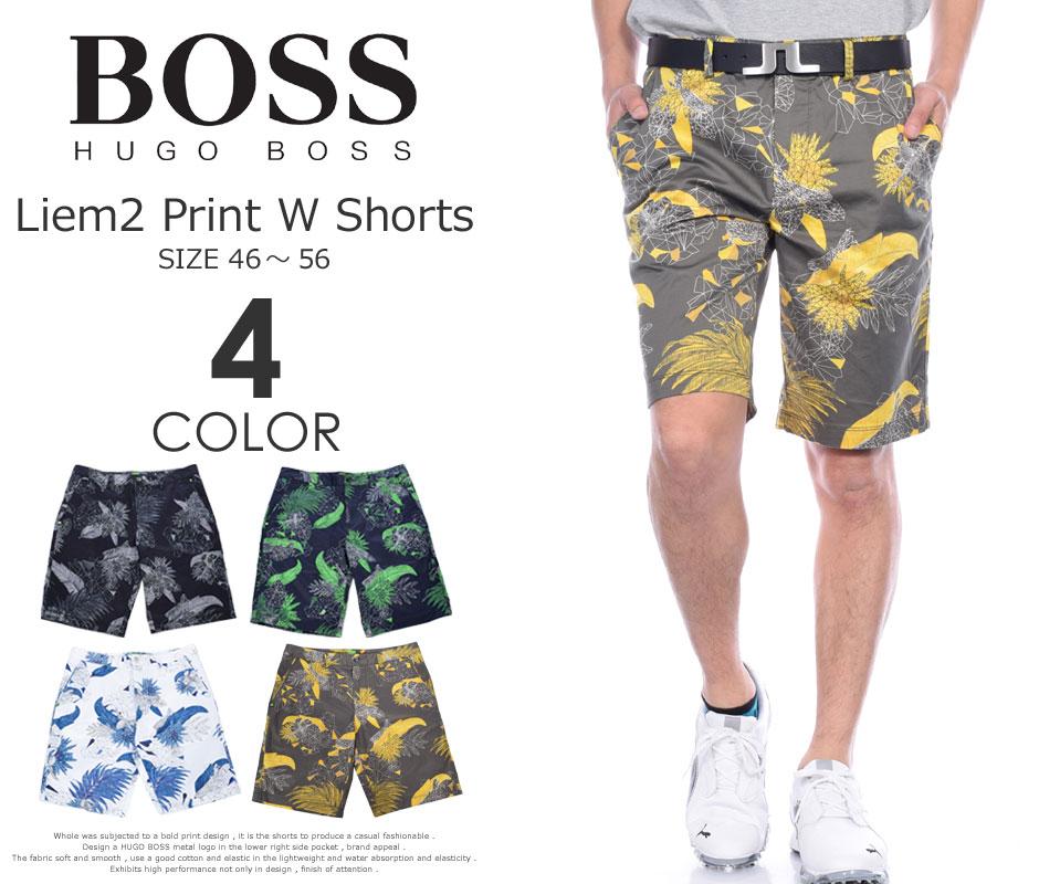 (在庫処分)ヒューゴボス HUGO BOSS メンズウェア ゴルフ パンツ ウェア ショートパンツ リーム2 プリント W ショートパンツ 大きいサイズ USA直輸入 あす楽対応 平成最後セール 令和記念
