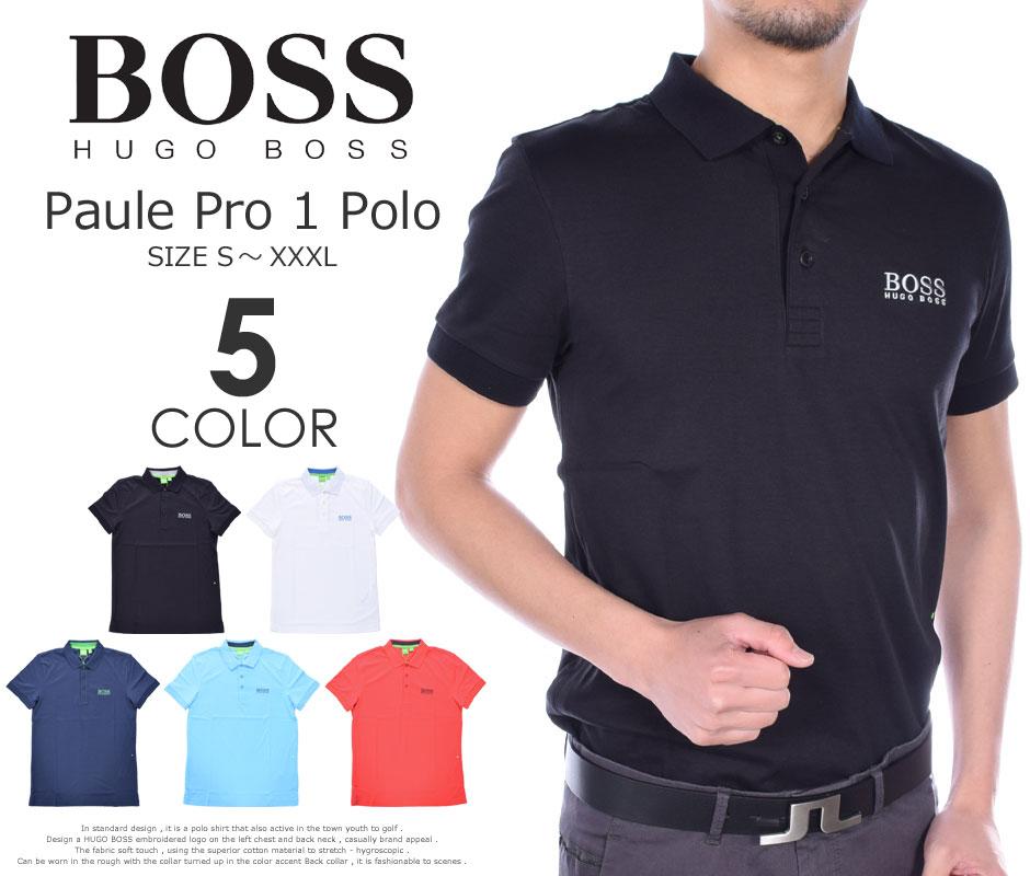 (在庫処分)ヒューゴボス HUGO BOSS ゴルフウェア メンズウェア ゴルフ  ポール プロ 1 半袖ポロシャツ 大きいサイズ USA直輸入 あす楽対応