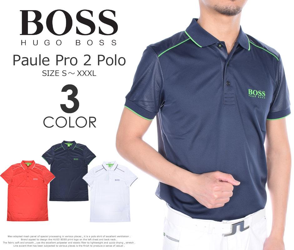 (在庫処分)ヒューゴボス HUGO BOSS ゴルフウェア メンズウェア ゴルフ  ポール プロ 2 半袖ポロシャツ 大きいサイズ USA直輸入 あす楽対応