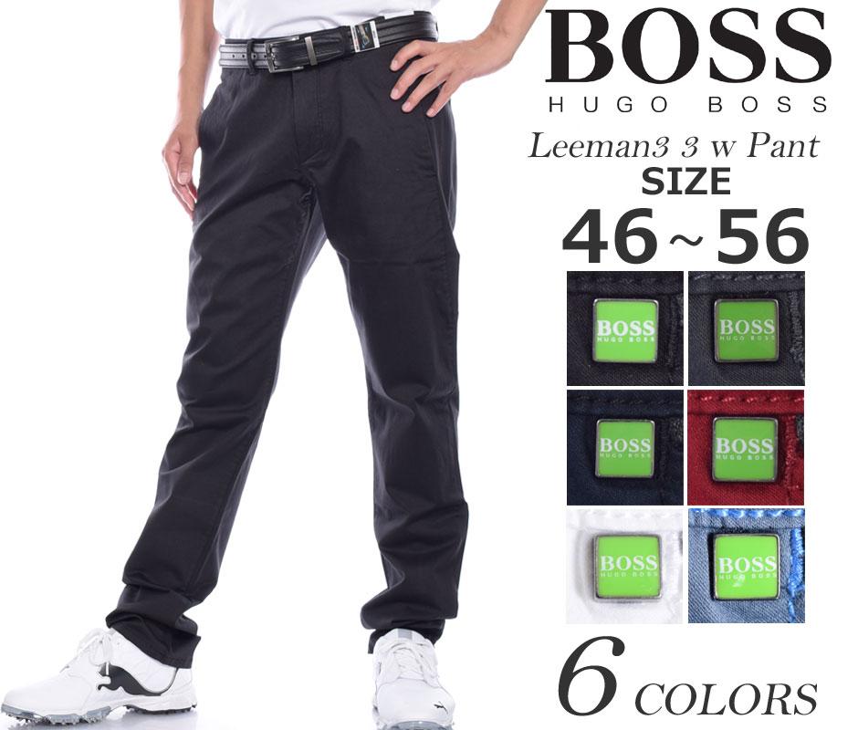 (在庫処分)ヒューゴボス HUGO BOSS ボトム リーマン3 3 W パンツ 大きいサイズ