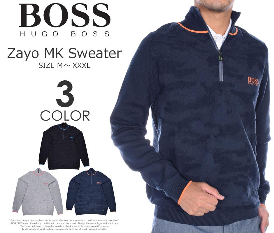 (在庫処分)ヒューゴボス HUGO BOSS ゴルフウェア メンズ 秋冬ウェア 長袖メンズウェア ゴルフ ザヨ MK 長袖セーター 大きいサイズ USA直輸入 あす楽対応