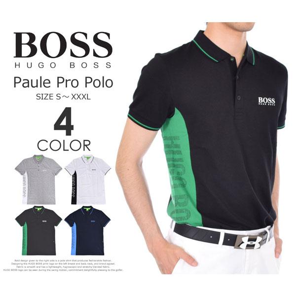 (在庫処分)ヒューゴボス HUGO BOSS ゴルフウェア メンズウェア ゴルフ  ポール プロ 半袖ポロシャツ 大きいサイズ USA直輸入 あす楽対応